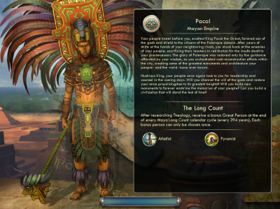 Civilization V: Pacal Mayan Empire