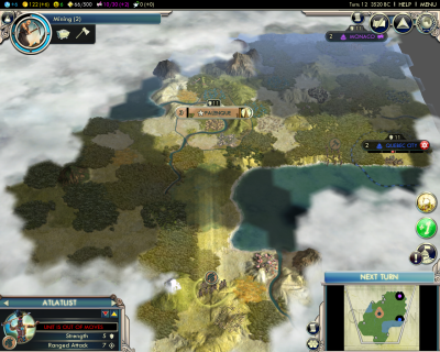 Civilization V: Early strategic view
