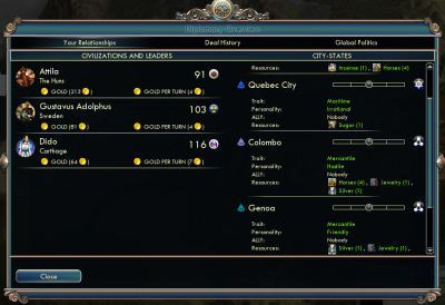 Civilization V: Early diplomacy overview