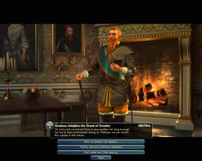 Civilization V: Gustavus Adolphus the great of Sweden
