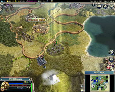 Civilization V: First major battle won