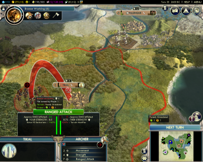 Civilization V: The founding of Tikal