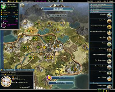 Civilization V: Palenque Renaissance Awesomeness