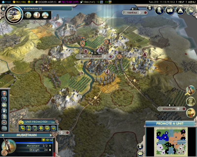 Civilization V: Attack on Atilla's Court